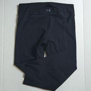 Under armour cropped black leggings EUC medium